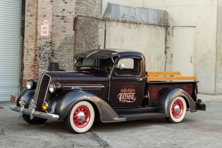1937 Dodge Brothers Commercial Express Pickup Hotrod Hot Rod Custom Old School USA 2500x1667-01 wallpaper