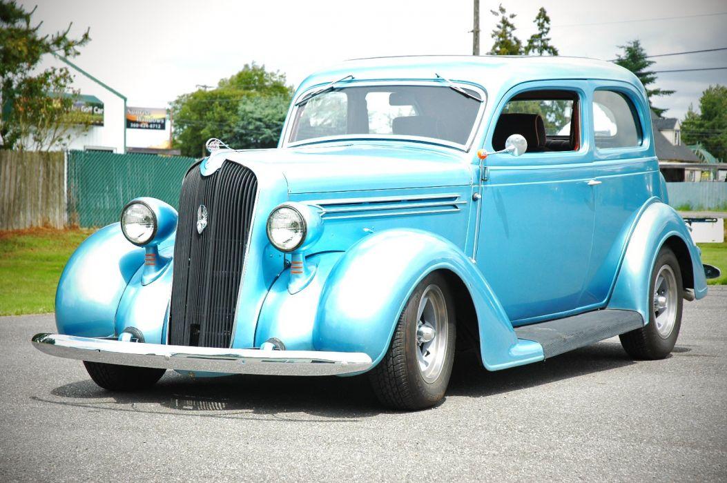 1936 Plymouth Sedan 2 Door Humpback Hotrod Streetrosd Hot Rod Street Blue USA 1500x1000-13 wallpaper