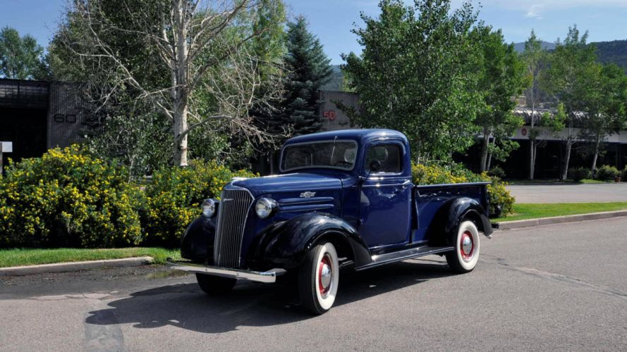 1937 Chevrolet Pickup Step Side Classic Old Retro Vintage USA 5120x2880 wallpaper