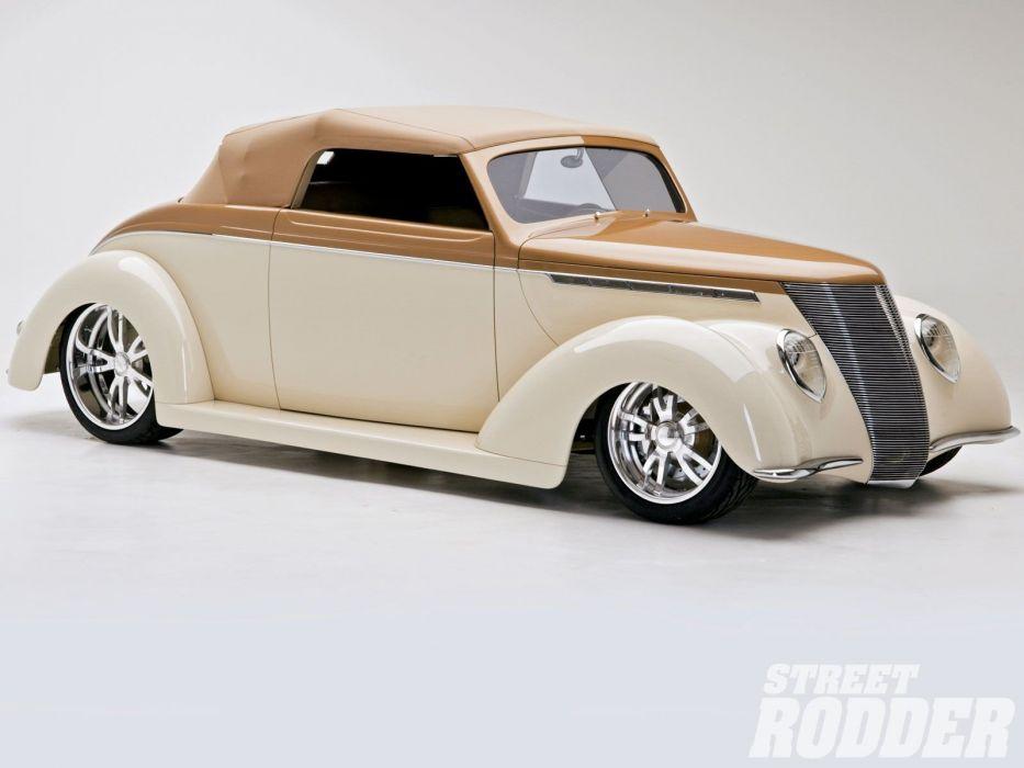 1937 Ford Convertible Hotrod Hot Rod Streetrod Street USA 1600x1200-01 wallpaper