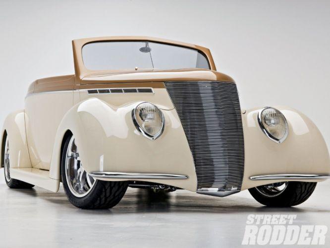 1937 Ford Convertible Hotrod Hot Rod Streetrod Street USA 1600x1200-03 wallpaper