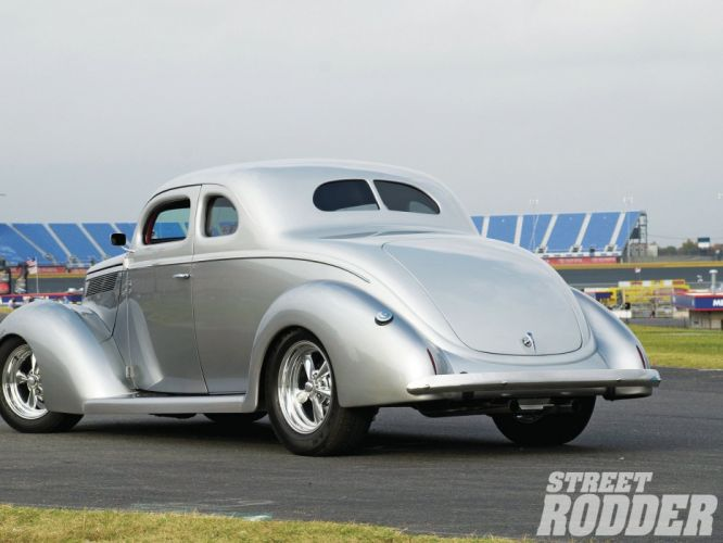 1937 Ford Coupe 5 Window Hotrod Hot Rod Streetrod Street Silve USA 1600x1200-02 wallpaper