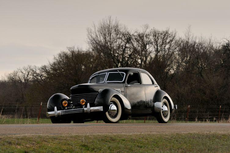 1937 Cord 812 Sedan 4 Door Classic Old Retro Vintage Black USA 4200x2790 wallpaper
