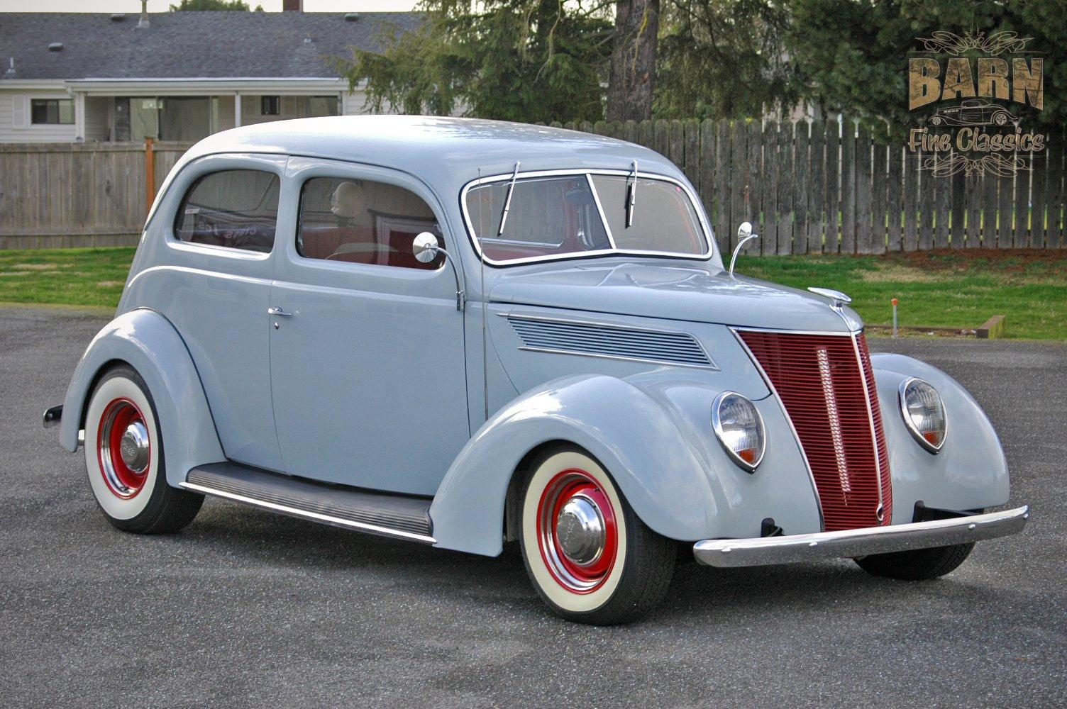 1937 Ford Sedan 2 Door Slantback Hotrod Hot Rod Old School