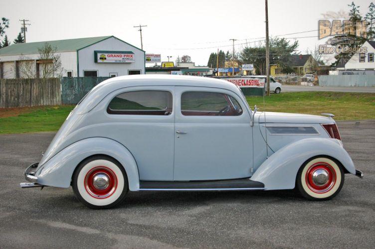 1937 Ford Sedan 2 Door Slantback Hotrod Hot Rod Old School USA 1500x1000-12 wallpaper