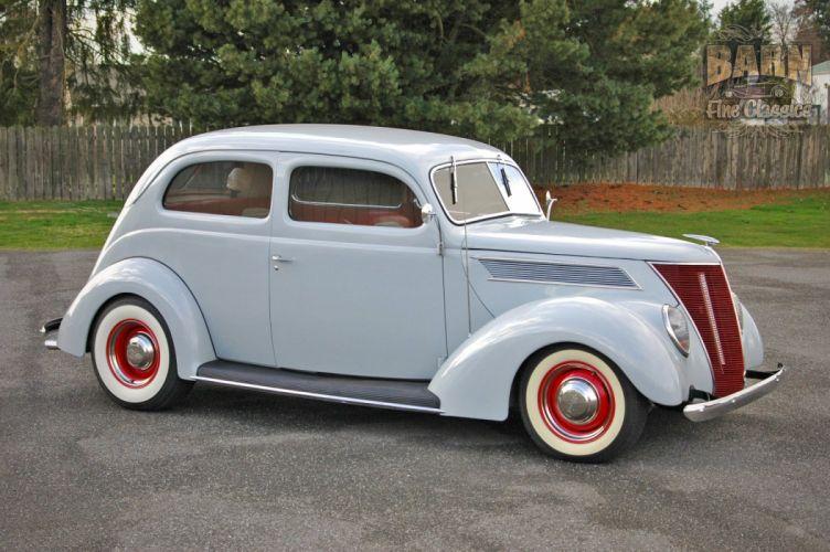 1937 Ford Sedan 2 Door Slantback Hotrod Hot Rod Old School USA 1500x1000-14 wallpaper