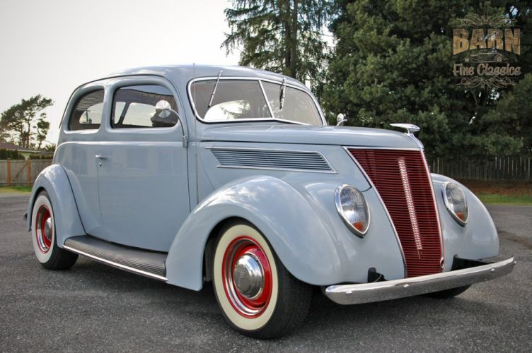 Old Ford Cars >> 1937 Ford Sedan 2 Door Slantback Hotrod Hot Rod Old School USA 1500x1000-16 wallpaper ...