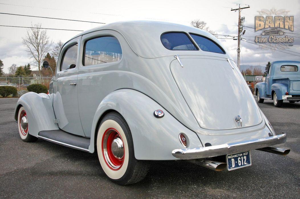 1937 Ford Sedan 2 Door Slantback Hotrod Hot Rod Old School USA 1500x1000-20 wallpaper
