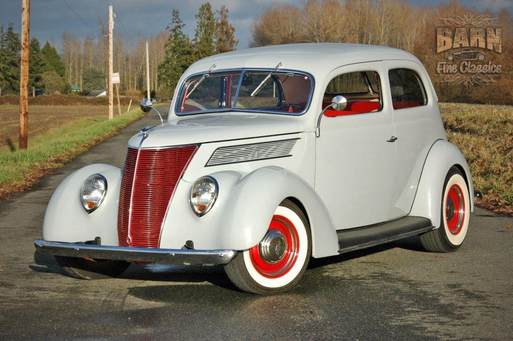 1937 Ford Sedan 2 Door Slantback Hotrod Hot Rod Old School USA 1500x1000-23 wallpaper