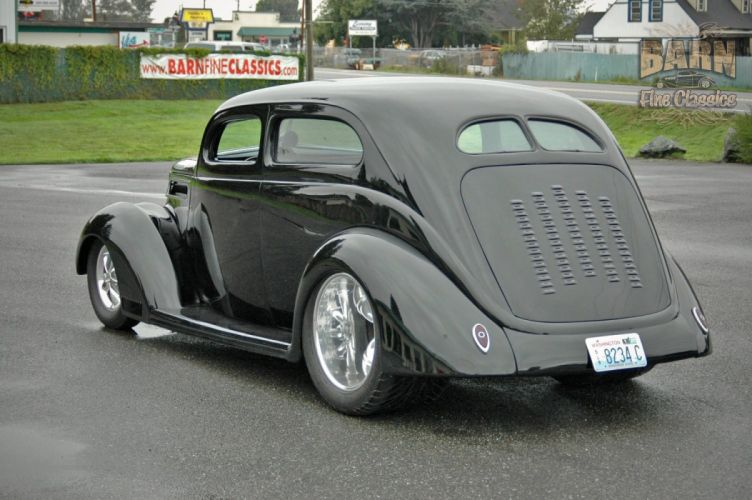 1937 Ford Sedan 2 Door Slantback Hotrod Streetrod Hot Rod Street Black USA 1500x1000-06 wallpaper