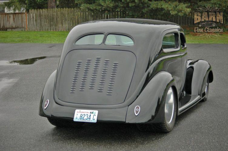1937 Ford Sedan 2 Door Slantback Hotrod Streetrod Hot Rod Street Black USA 1500x1000-08 wallpaper
