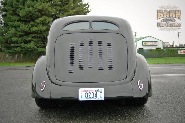 1937 Ford Sedan 2 Door Slantback Hotrod Streetrod Hot Rod Street Black USA 1500x1000-12 wallpaper