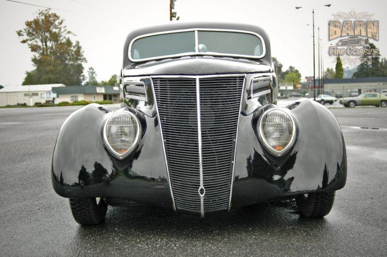 1937 Ford Sedan 2 Door Slantback Hotrod Streetrod Hot Rod Street Black USA 1500x1000-15 wallpaper