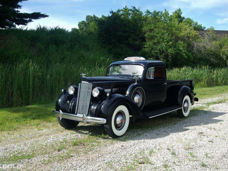 1937 Packard 120 Pickup Classic Old Retro Vintage Black USA 2000x1500 wallpaper