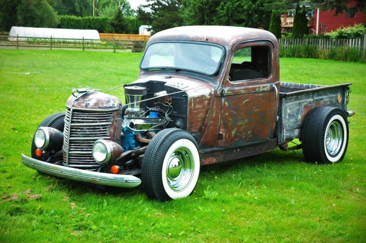 1937 Plymouth Pickup Ratrod Hotrod Hot Rat Rod Old School USA 1500x1000-07 wallpaper