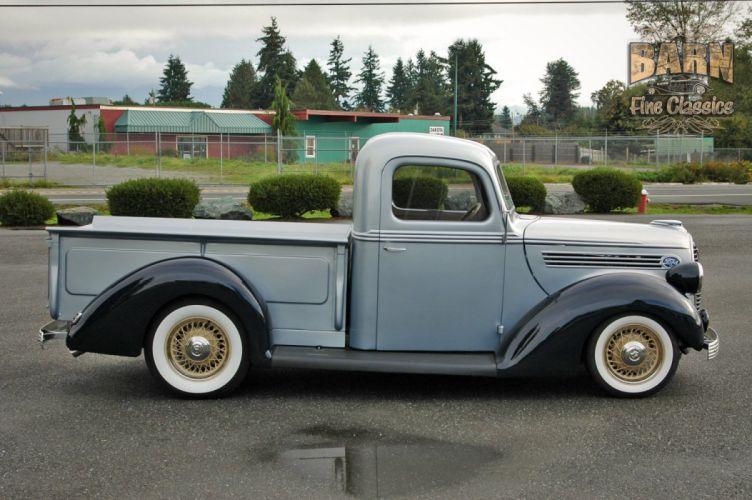 1938 Ford Pickup Hotrod Hod Rod Old School Custom USA 1500x1000-02 wallpaper