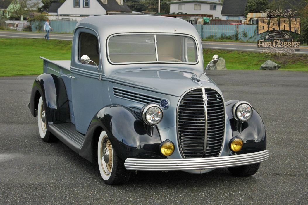 1938 Ford Pickup Hotrod Hod Rod Old School Custom USA 1500x1000-05 wallpaper