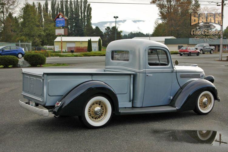 1938 Ford Pickup Hotrod Hod Rod Old School Custom USA 1500x1000-01 wallpaper