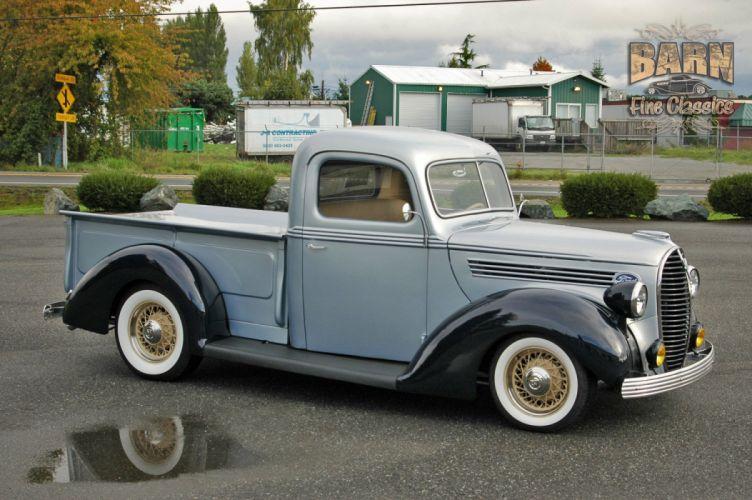 1938 Ford Pickup Hotrod Hod Rod Old School Custom USA 1500x1000-03 wallpaper