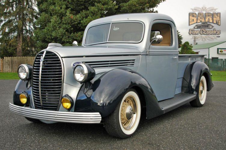 1938 Ford Pickup Hotrod Hod Rod Old School Custom USA 1500x1000-10 wallpaper