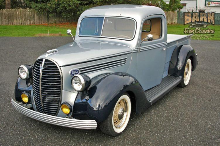 1938 Ford Pickup Hotrod Hod Rod Old School Custom USA 1500x1000-09 wallpaper