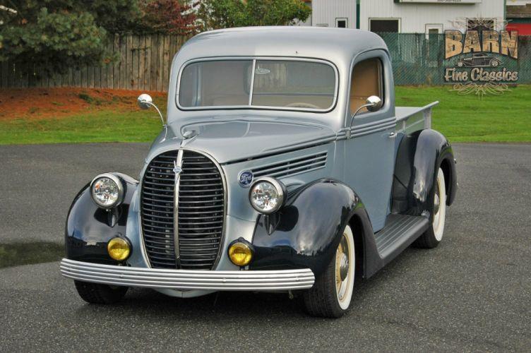 1938 Ford Pickup Hotrod Hod Rod Old School Custom USA 1500x1000-07 wallpaper