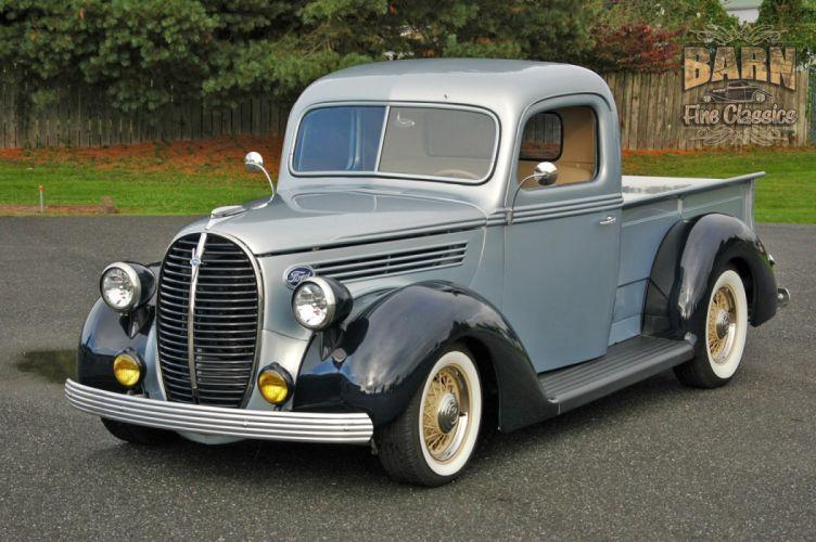 1938 Ford Pickup Hotrod Hod Rod Old School Custom USA 1500x1000-08 wallpaper