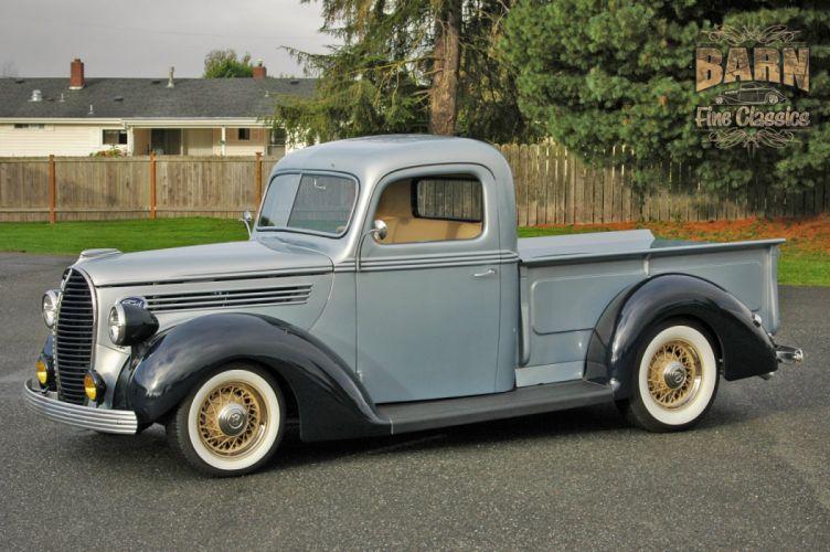 1938 Ford Pickup Hotrod Hod Rod Old School Custom USA 1500x1000-11 wallpaper