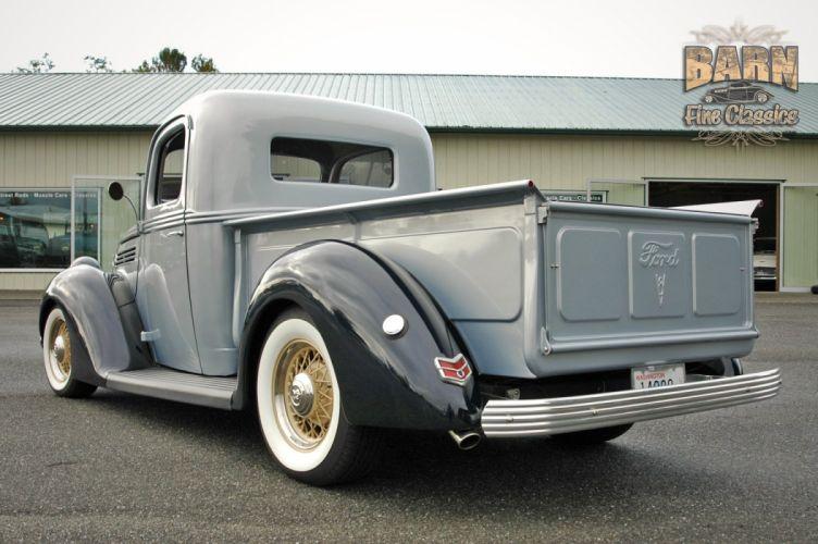 1938 Ford Pickup Hotrod Hod Rod Old School Custom USA 1500x1000-13 wallpaper
