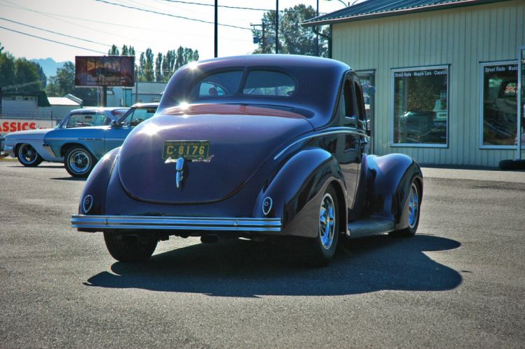 1938 Ford Deluxe Coupe 5 Window Hotrod Streetrod Hot Rod Street USA 1500x1000-02 wallpaper