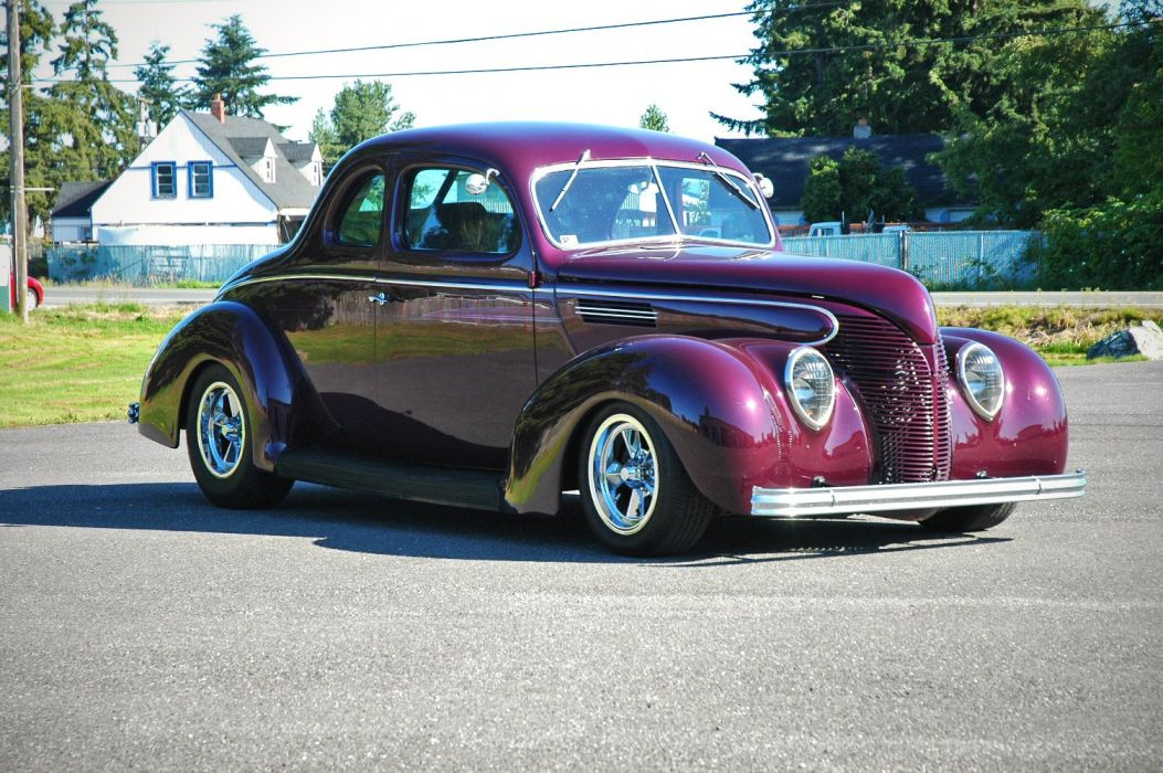 1938 Ford Deluxe Coupe 5 Window Hotrod Streetrod Hot Rod Street USA 1500x1000-06 wallpaper