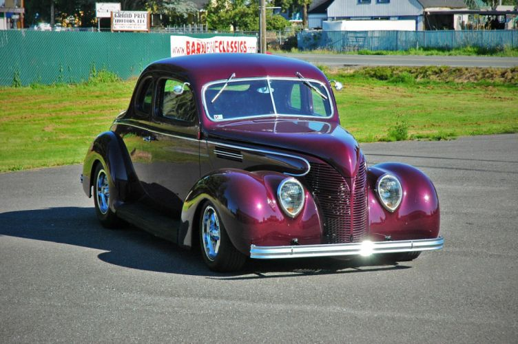 1938 Ford Deluxe Coupe 5 Window Hotrod Streetrod Hot Rod Street USA 1500x1000-07 wallpaper