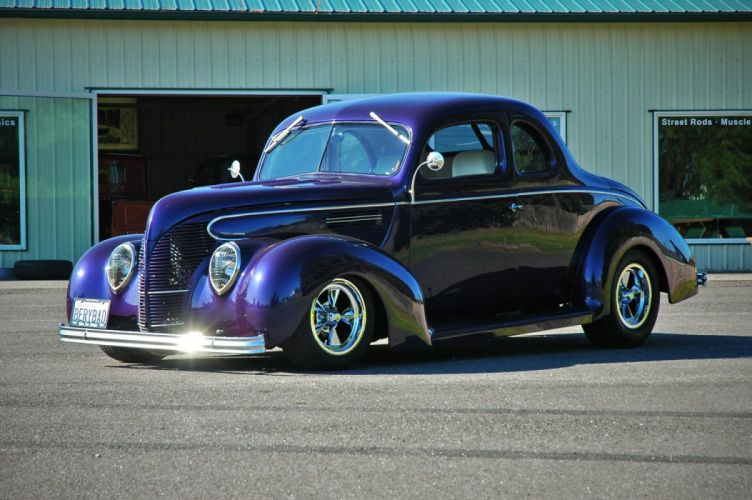 1938 Ford Deluxe Coupe 5 Window Hotrod Streetrod Hot Rod Street USA 1500x1000-11 wallpaper