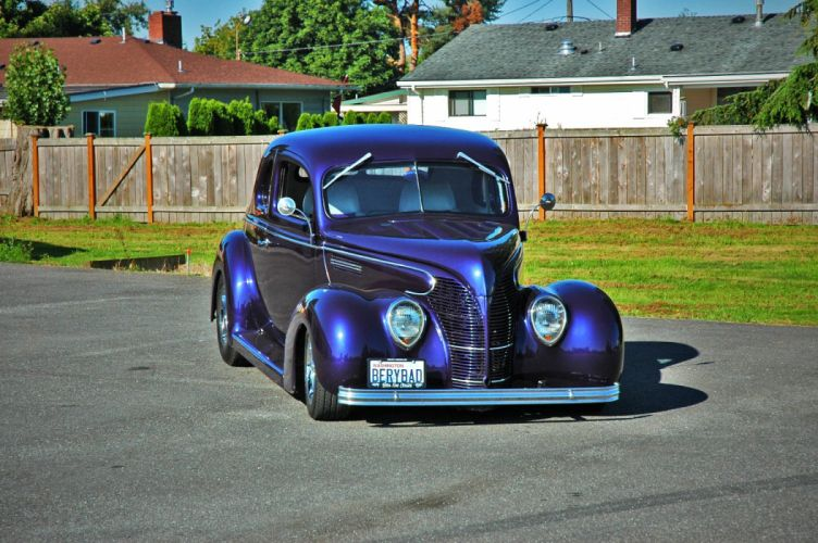 1938 Ford Deluxe Coupe 5 Window Hotrod Streetrod Hot Rod Street USA 1500x1000-13 wallpaper