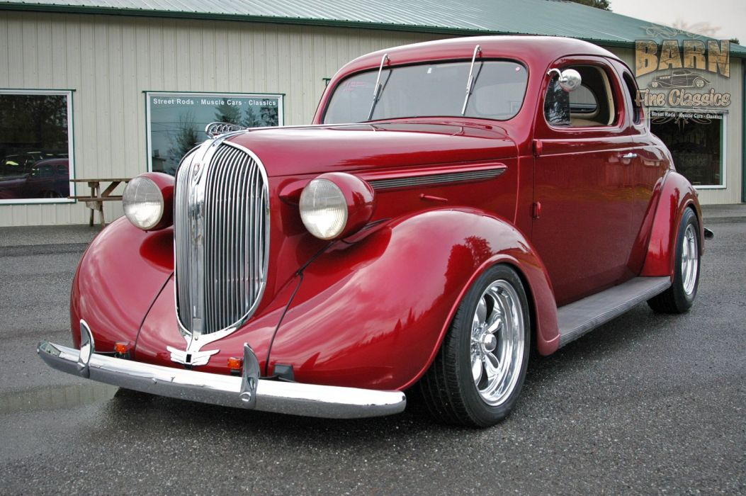 1938 Plymouth Coupe 2 Door Hotrod Streetrod Hot Rod Street Red USA 1500x1000-09 wallpaper