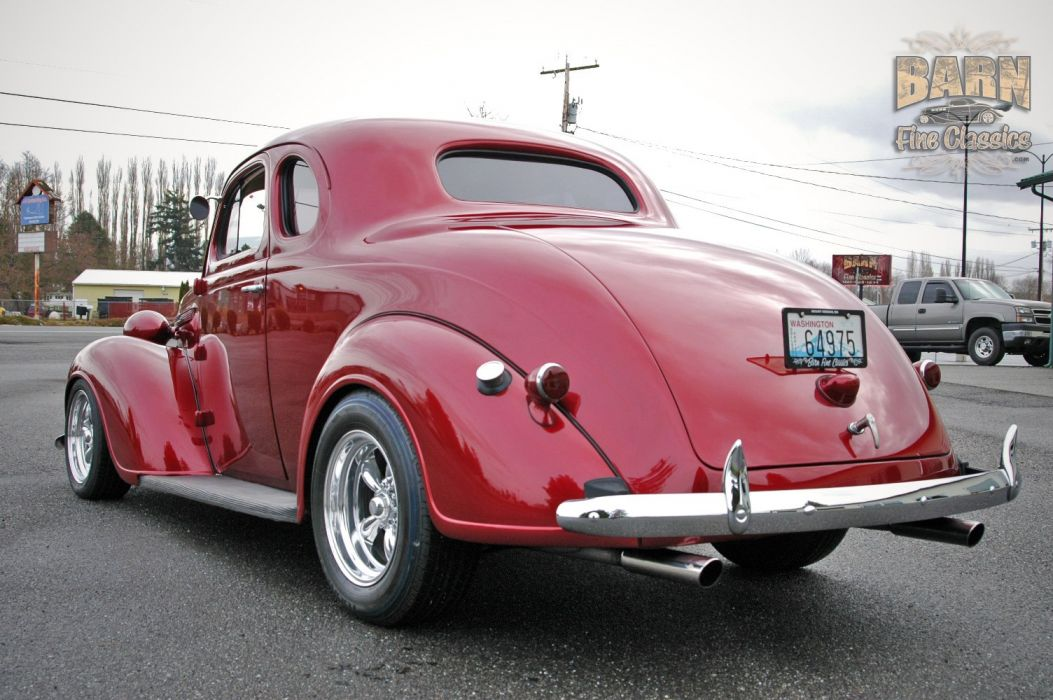 1938 Plymouth Coupe 2 Door Hotrod Streetrod Hot Rod Street Red USA 1500x1000-10 wallpaper
