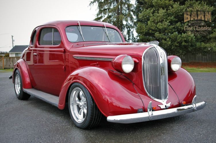 1938 Plymouth Coupe 2 Door Hotrod Streetrod Hot Rod Street Red USA 1500x1000-12 wallpaper