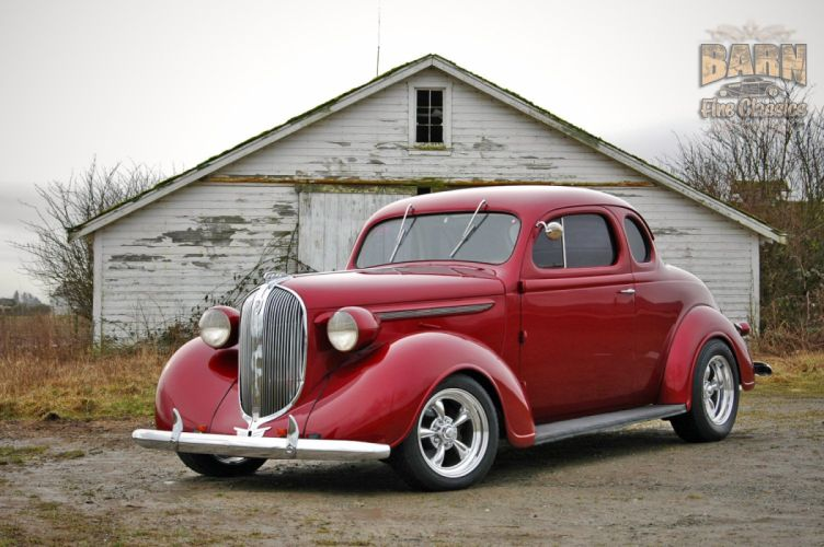 1938 Plymouth Coupe 2 Door Hotrod Streetrod Hot Rod Street Red USA 1500x1000-13 wallpaper