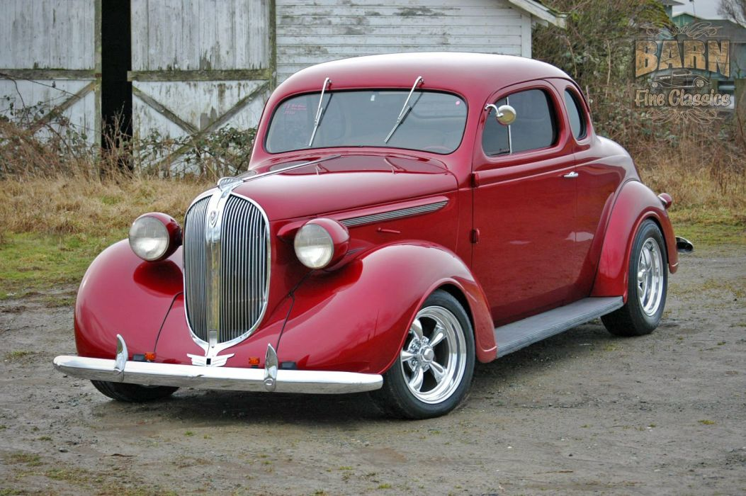 1938 Plymouth Coupe 2 Door Hotrod Streetrod Hot Rod Street Red USA 1500x1000-15 wallpaper