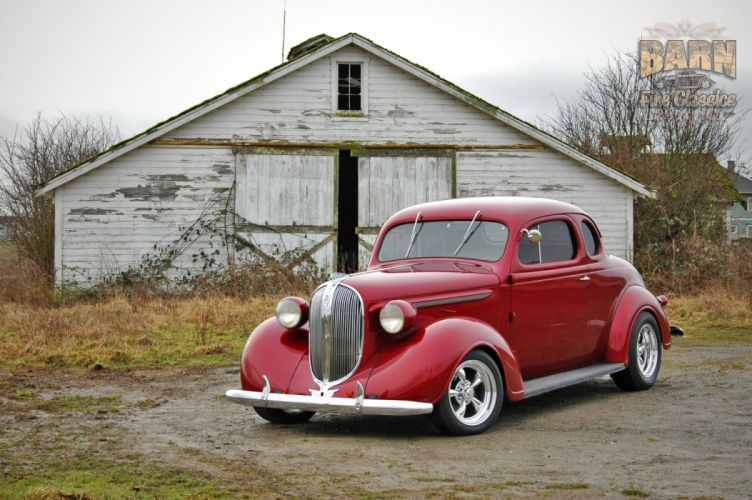 1938 Plymouth Coupe 2 Door Hotrod Streetrod Hot Rod Street Red USA 1500x1000-14 wallpaper