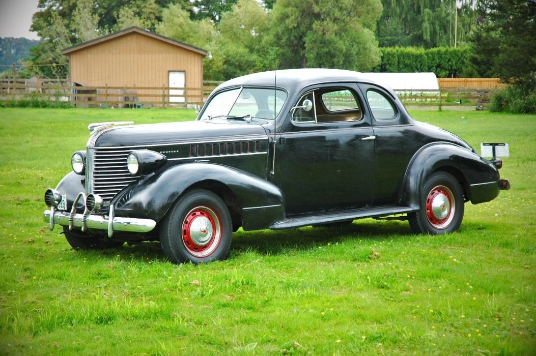 1938 Pontiac Coupe 2 Door Classic Old Retro Vintage USA 1500x1000-01 wallpaper