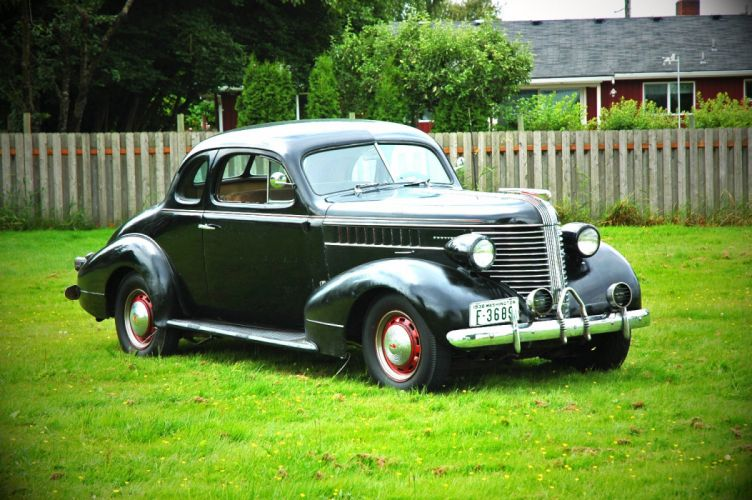 1938 Pontiac Coupe 2 Door Classic Old Retro Vintage USA 1500x1000-07 wallpaper