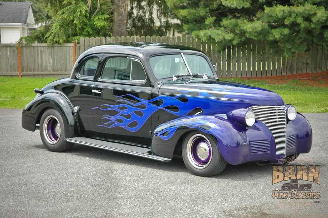 1939 Chevrolet Business Coupe Hotrod Hot Rod Custom Old school USA 1500x1000-01 wallpaper