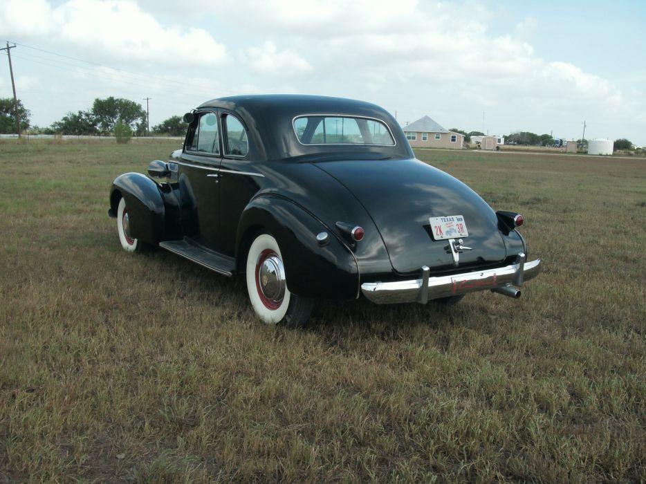 1939 Cadillac Opera Coupe Classic Old Retro Vintage Black USA 3072x2304-03 wallpaper