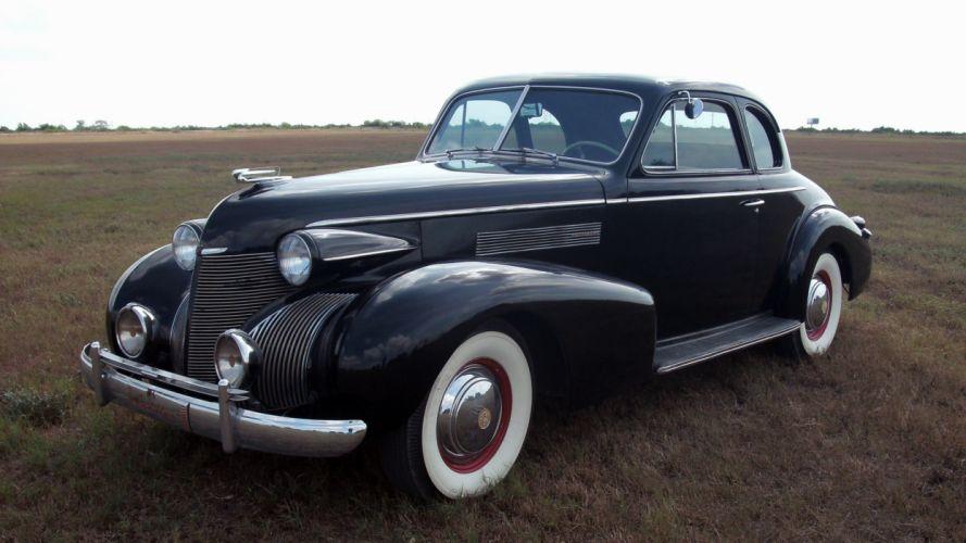 1939 Cadillac Opera Coupe Classic Old Retro Vintage Black USA 3072x1728-01 wallpaper