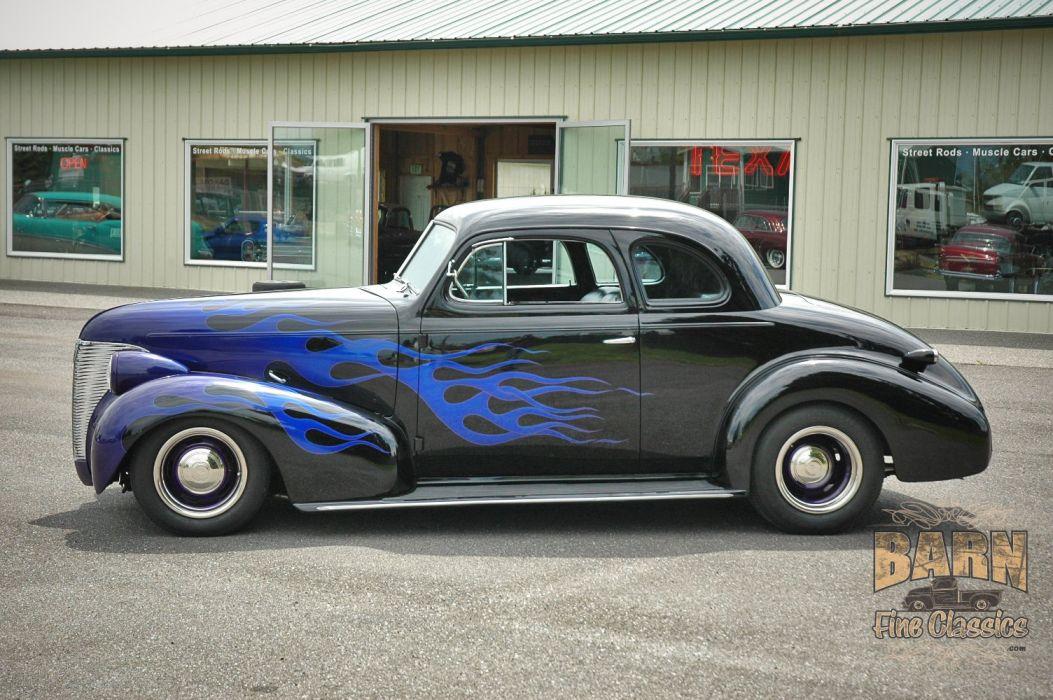 1939 Chevrolet Business Coupe Hotrod Hot Rod Custom Old school USA 1500x1000-03 wallpaper