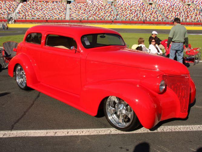 1939 Chevrolet Sedan 2 door Hotrod Streetrod Hot Rod Street USA 3400x2550-01 wallpaper