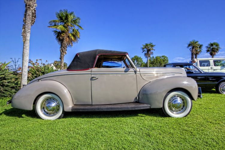 1939 Ford Deluxe Convertible Classic Old Retro Vintage USA 3300x2196-01 wallpaper
