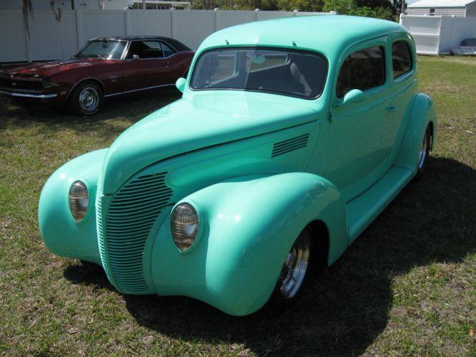 1939 Ford Tudor Sedan Two Door Hotrod Streetrod Hot Rod Street USA 2048x1536-01 wallpaper