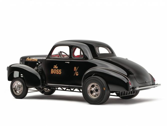 1939 Studebaker Champion Coupe Drag Dragster Gasser Black USA 1600x1200-02 wallpaper
